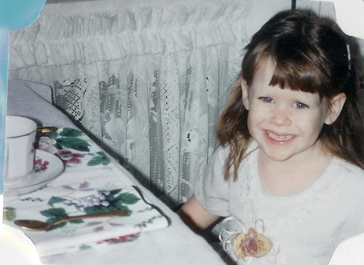 Author's older daughter at 5yr