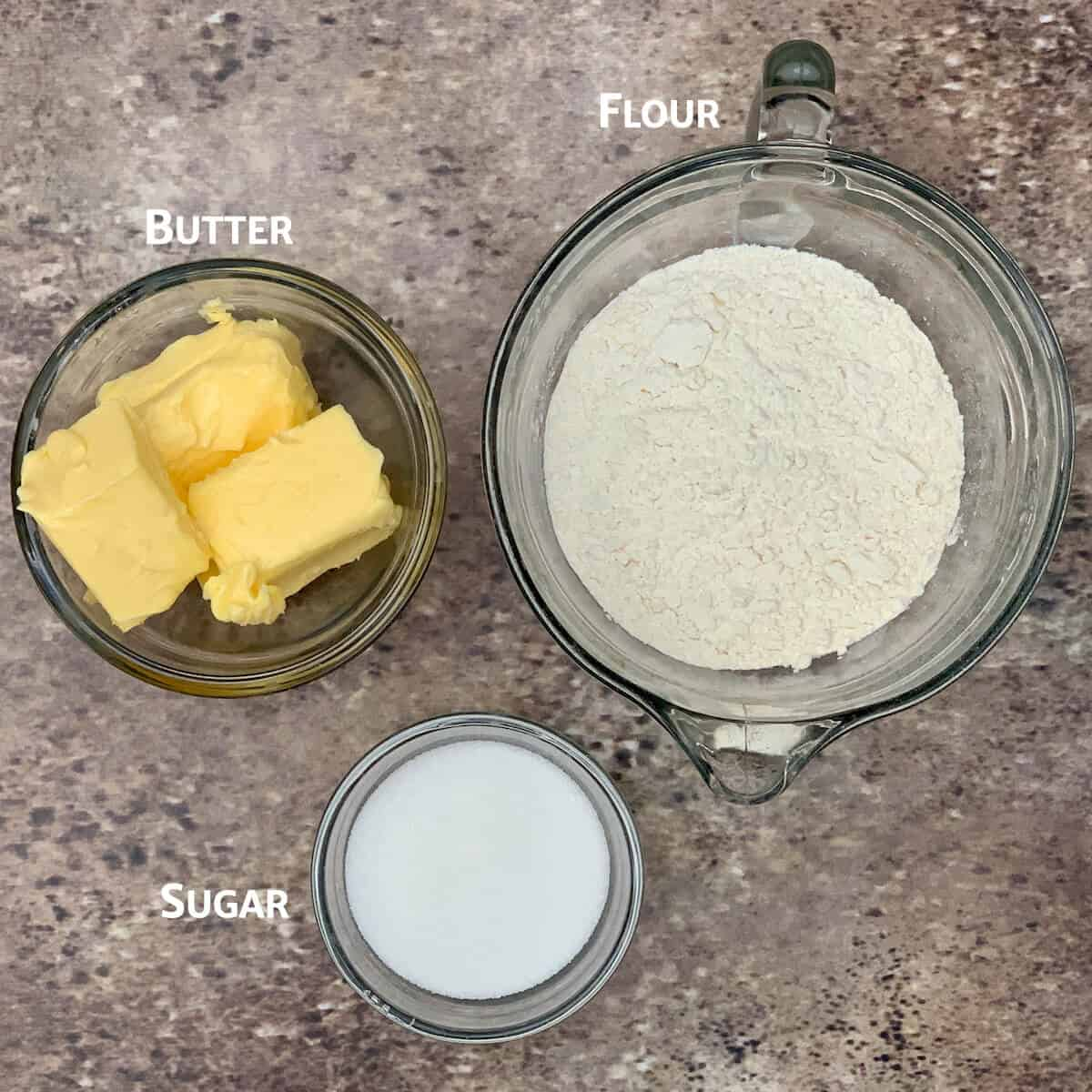 homemade shortbread ingredients