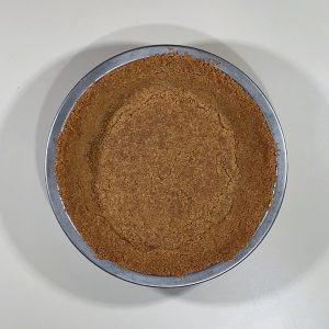graham cracker crust baked overhead