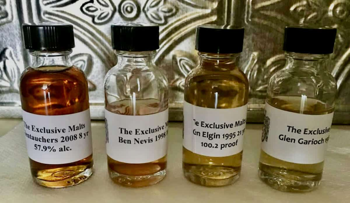 4 impex beverages samples in small bottles