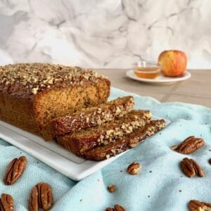 Honey Cake sliced with apples & honey