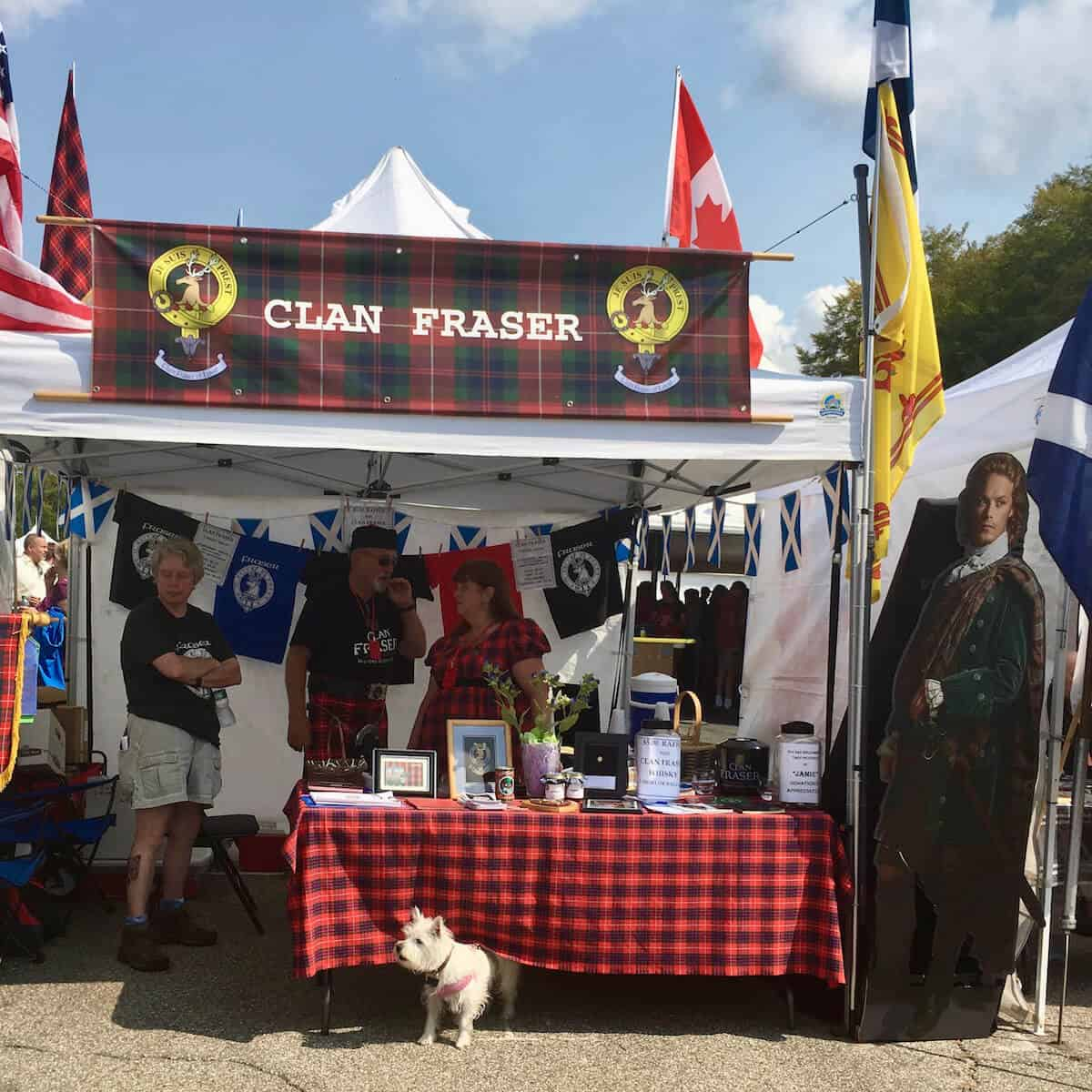 Clan Fraser tent at the New Hampshire Highland Games & Festival.