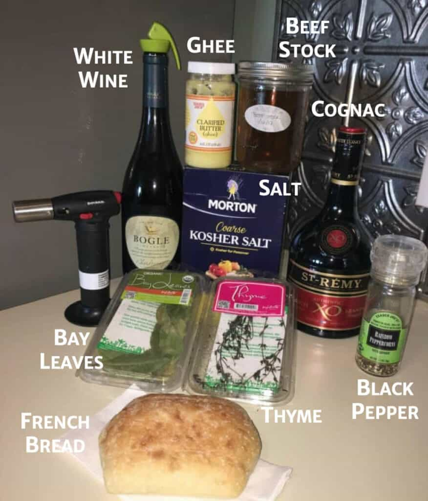French Onion Soup ingredients (without cheese or onions)