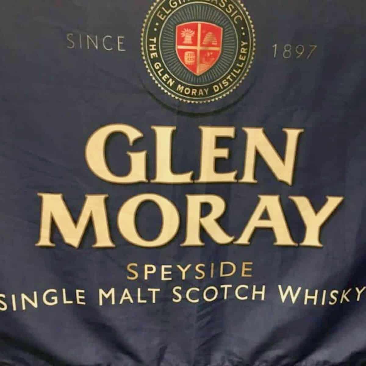 Glen Moray Single Malt Scotch Whisky flag.