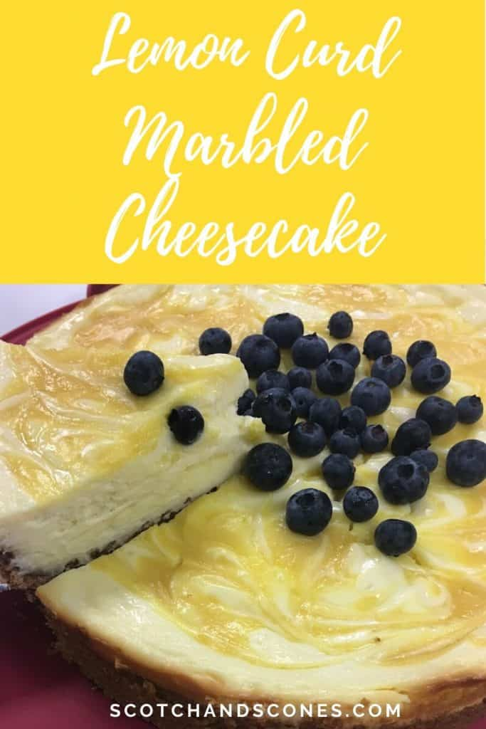 lemon curd cheesecake lifted slice Pinterest banner