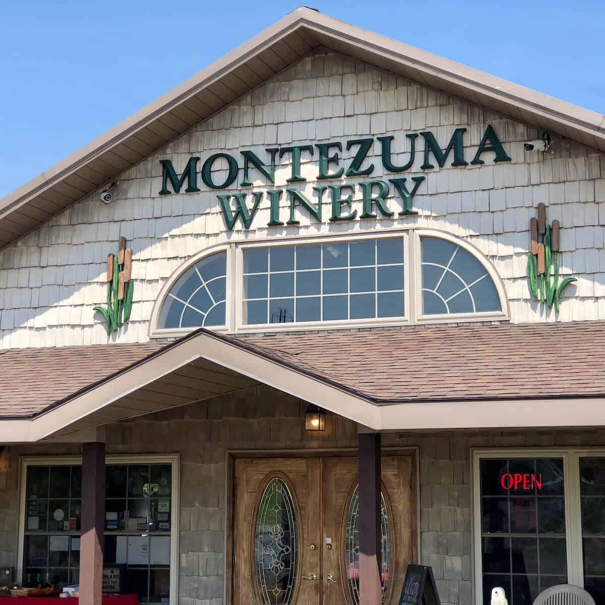 Montezuma Winery storefront.