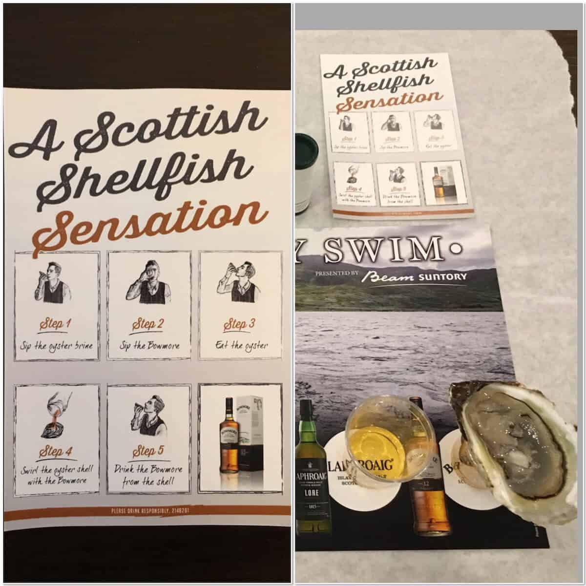 Guide to tasting oysters before sampling Laphroaig Lore.