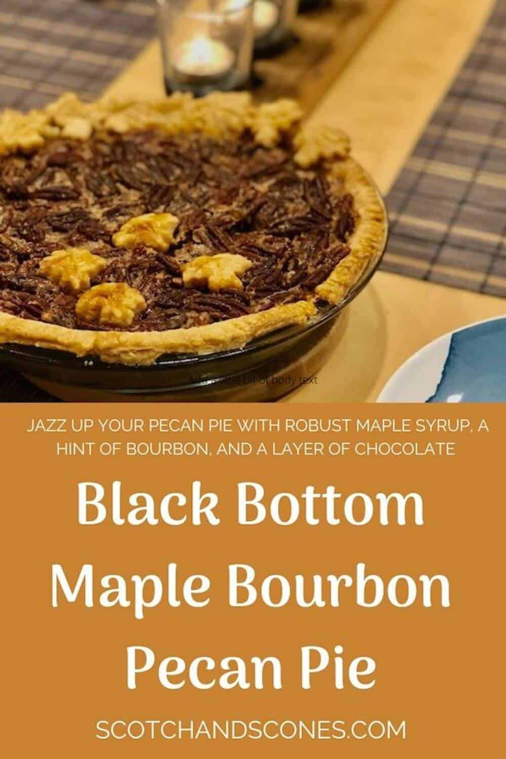 maple bourbon pecan pie pinterest banner