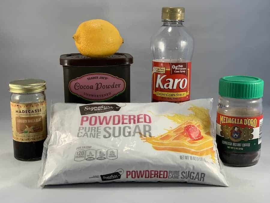Black and White Cookie Cake icing ingredients