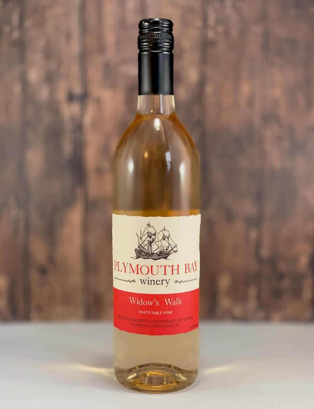 Plymouth Bay Winery Widow's Walk table wine in bottle