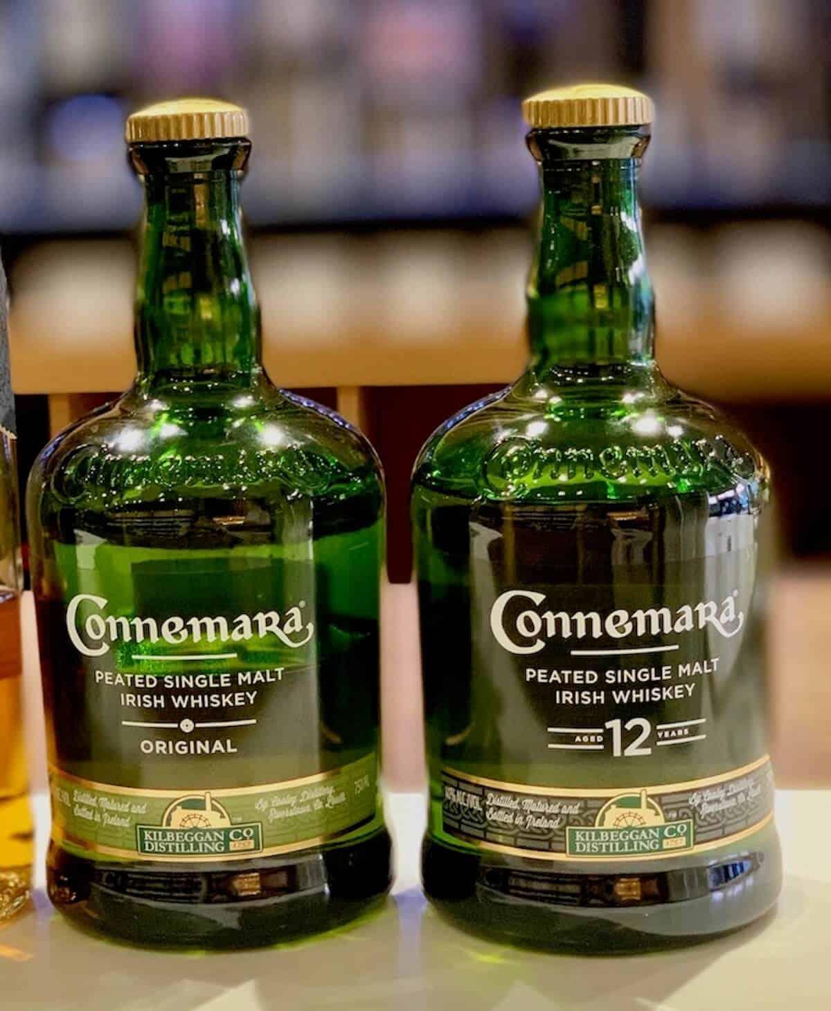 Connemara lineup in bottles