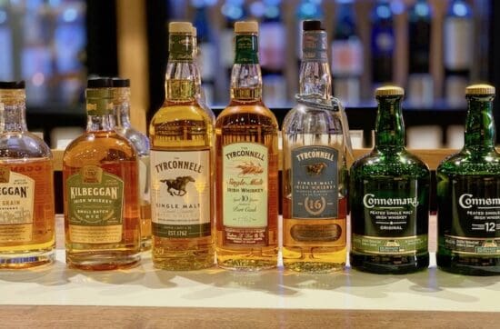 Kilbeggan Irish Whiskey, Kilbeggan, Tyrconnell, Connemara lineup