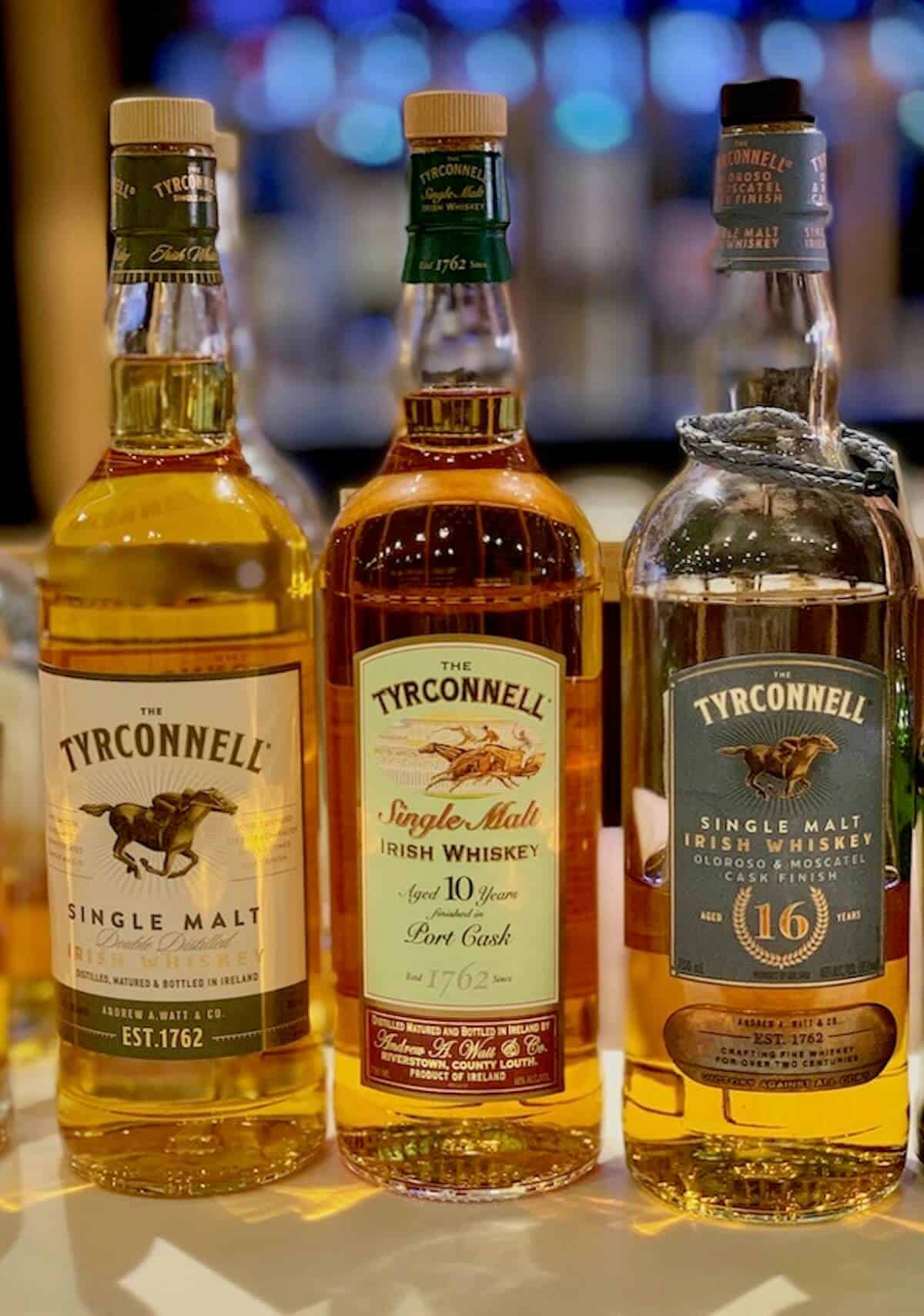 Tyrconnell lineup in bottles