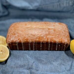 glazed Mini Limoncello Cake as a loaf