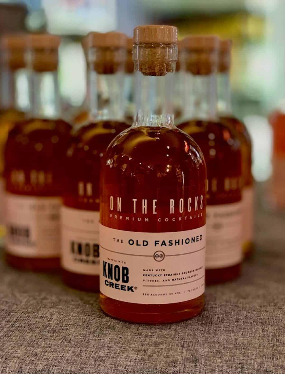 On the Rocks Premium Cocktails, Bourbon cocktails, Knob Creek Bourbon