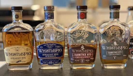 WhistlePig Rye Whiskys lineup