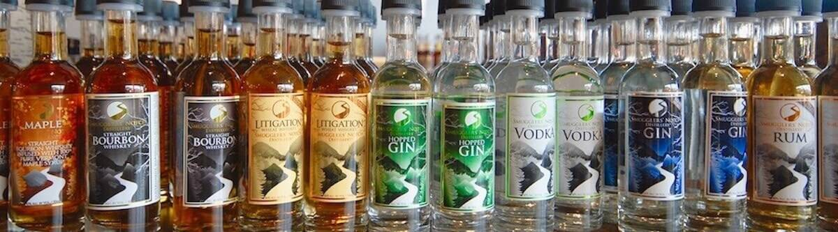 Smugglers' Notch Distillery's entire spirits lineup