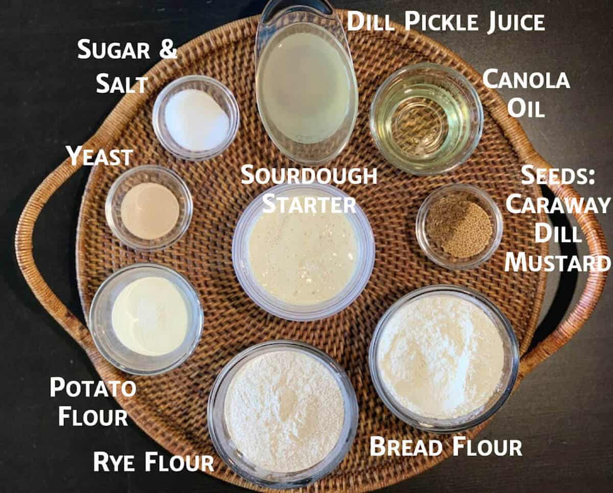 Sourdough Rye Sandwich Bread ingredients