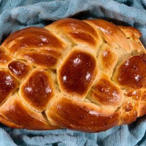 Alternative oblong 6-strand braided challah