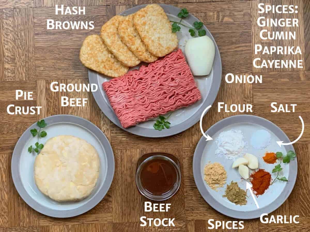 Morrocan Beef Pie ingredients