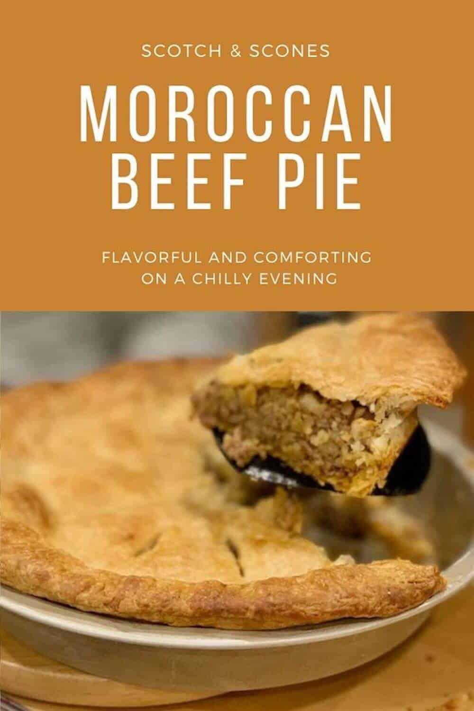 Moroccan Beef Pie Pinterest banner