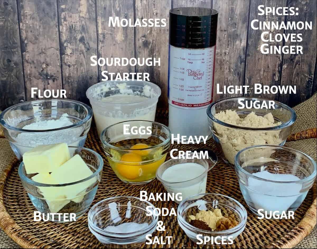 sourdough gingerbread ingredients