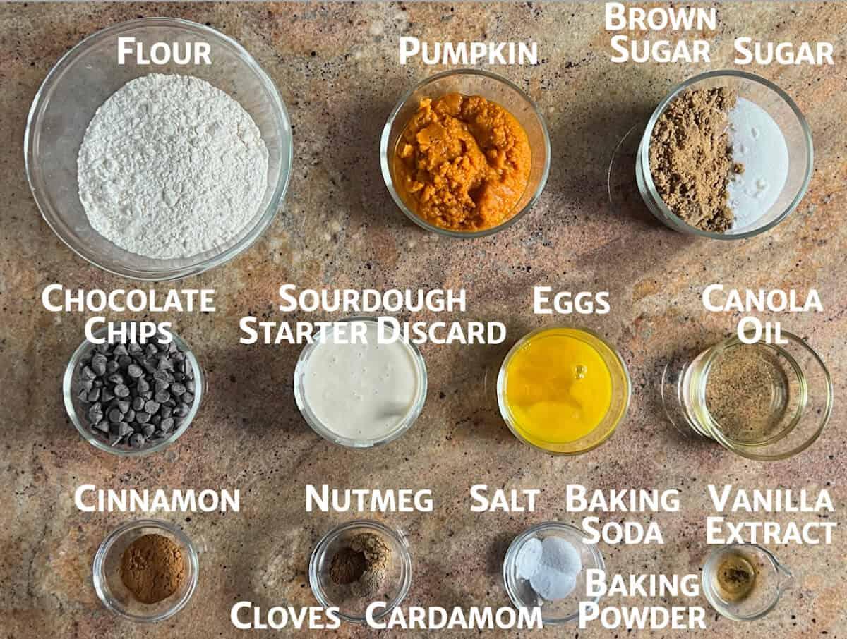 sourdough pumpkin cake ingredients