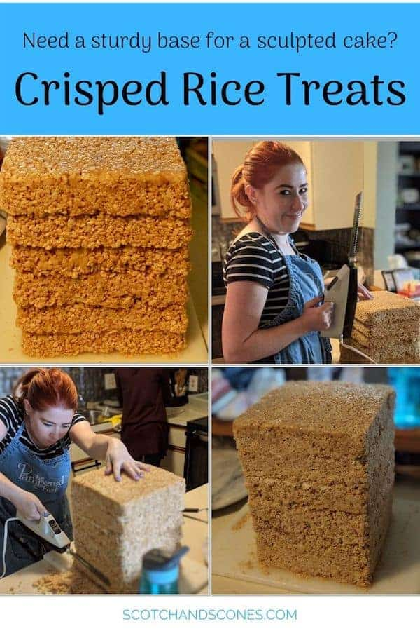 Crisped Rice Treats collage Pinterest banner