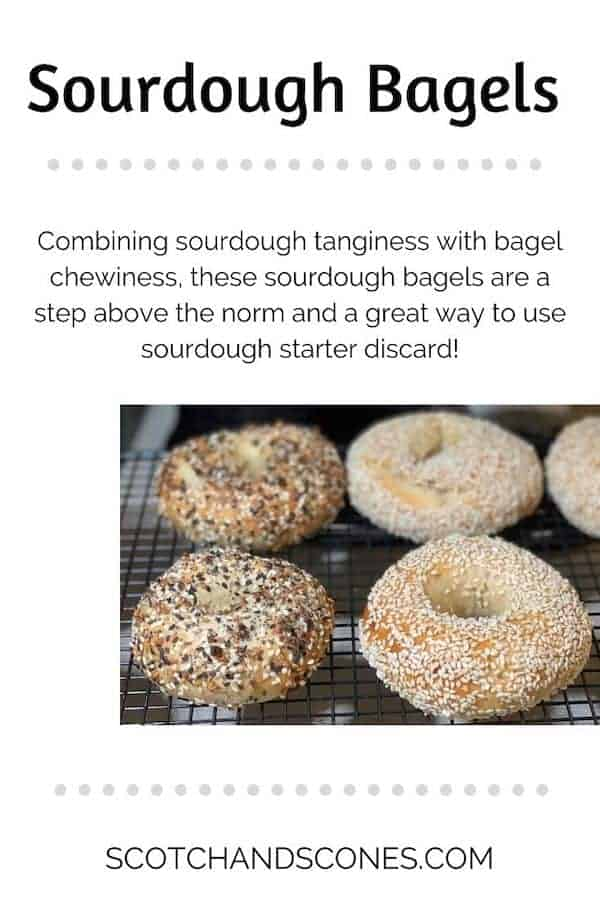 sourdough bagels pinterest banner