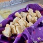 Sourdough Focaccia cut in basket