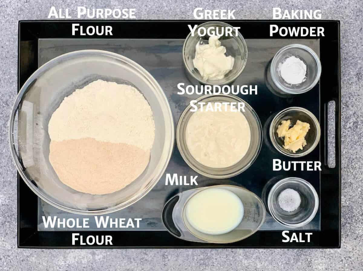 Sourdough naan ingredients