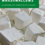 whiskey marshmallows closeup Pinterest banner