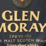 Glen Moray Single Malt Scotch Whisky flag Pinterest banner.