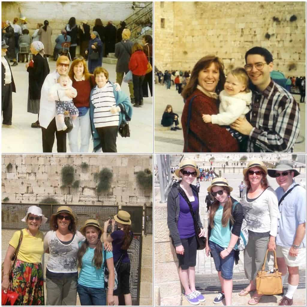 Author's family trips to Israel collage
