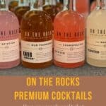 On the Rocks Premium cocktails lineup Pinterest banner