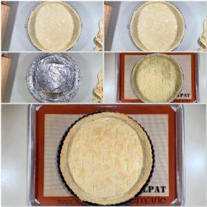 Blind baking Sourdough Shortcrust Pastry dough collage