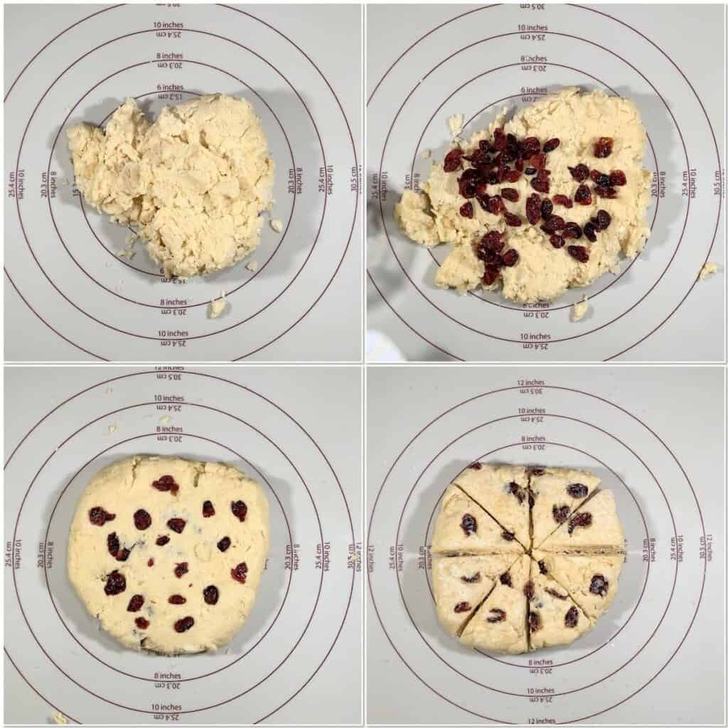 Shaping Orange Cranberry Scones collage