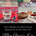 New Year's Eve desserts & drinks Pinterest banner