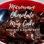 microwave mug cake closeup Pinterest banner
