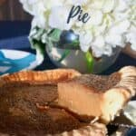 Butterscotch Pie with lifted slice closeup Pinterest banner