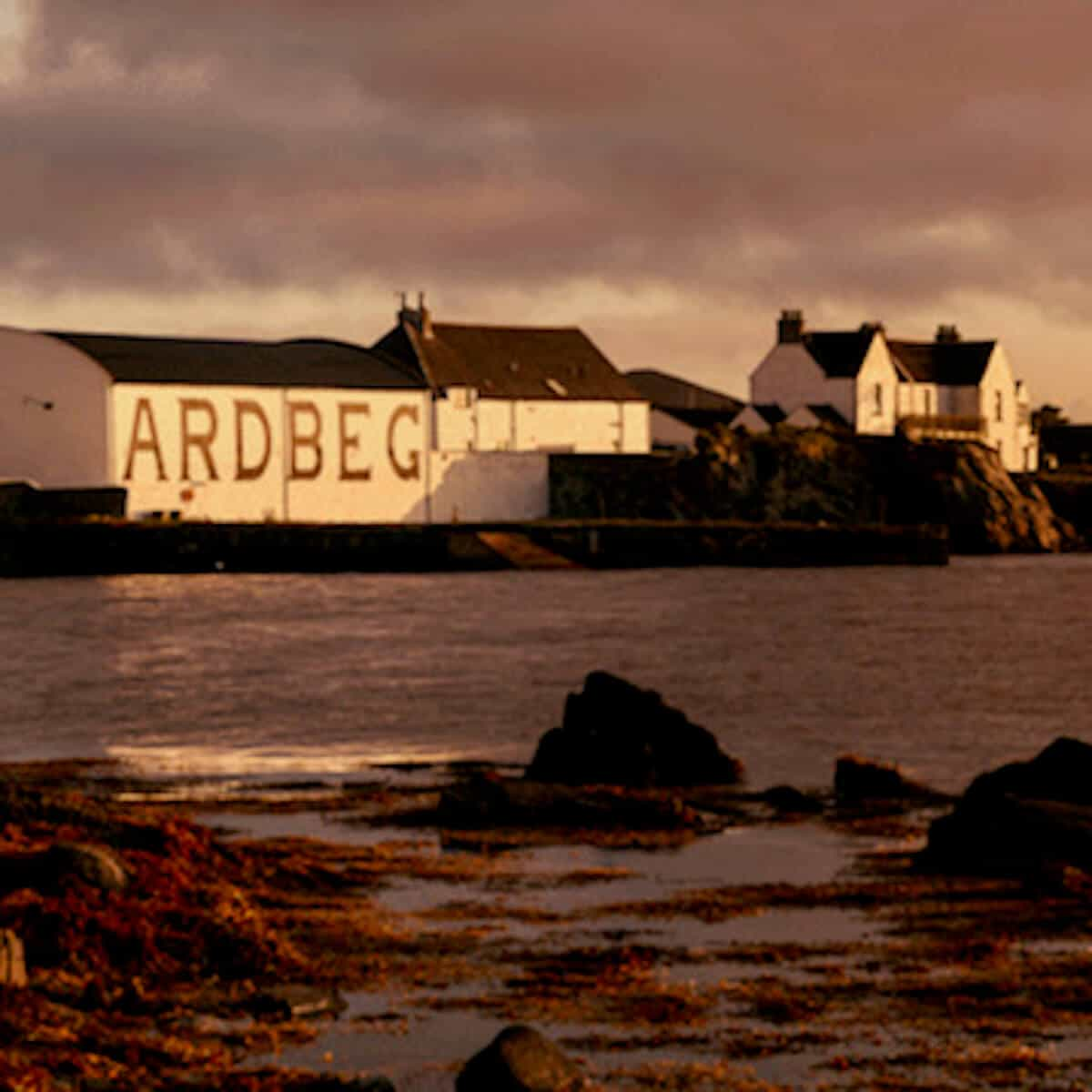 Photo of  the Ardbeg Distillery on Islay.