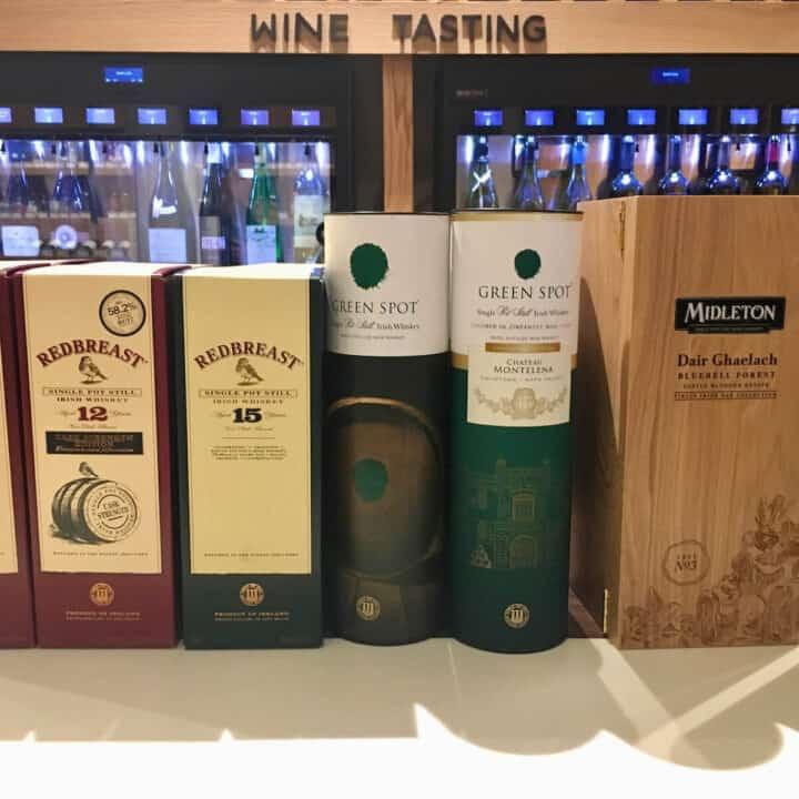 Midleton Irish Whiskey lineup of bottle sleeves.